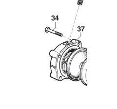 Accumulateur de pression supérieur pompe Comet BP 125/171 Réf: 00030030