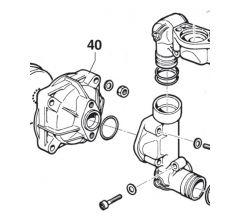 Accumulateur de pression inférieur pompe Comet BP 151/171/280 Réf: 00020024