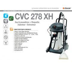 Aspirateur professionelle à 2 moteurs-CVP 278 XH-Eau-poussières-moquette-injecteur-extracteur-Réf:93560013