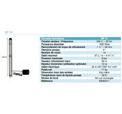 Pompes immergées multicellulaires pour puits Evacflo-BP14-Réf:80060311