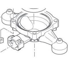 Accumulateur de pression inferieur pompe Comet BP 40 Réf: 00020032