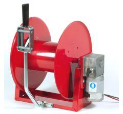 Enrouleur haute pression électrique 12V avec guide tuyau manuel