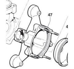 Accumulateur de pression inférieur pompe Comet BP 105/125 Réf: 00020021