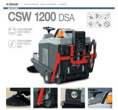 Balayeuse autoportée CSW 1200 DSA , version batterie 24 Volts 2100 W , Comet, Ref: 93020003