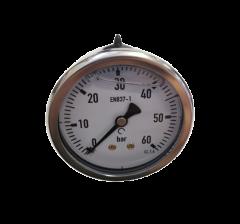 Manomètre 0-60 BAR Ø 63mm fixation axiale 1/4