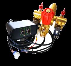 Groupe de commande manuel de pression 25 bar et 2 électrovannes électriques