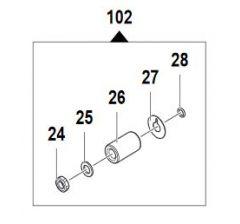 Kit pistons pompe LW-Ø15-Réf:24090071