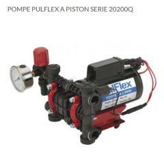 Pompe pulflex série 20200Q débit maxi 7,6L/Min pression maxi 13,8 bars tension 12V