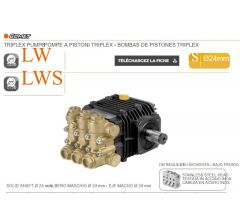 Pompe LW 2520 S à pistons triplex-S: Ø 24-Réf:63000900