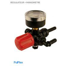Régulateur + Manomètre pompe 12 Volts Pulflex Réf: 716487