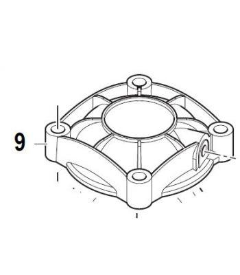 Accumulateur de pression supérieur pompe Comet BP 60/105/151/280 Réf: 00030015